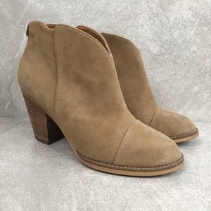 14th & Union Tan Suede Booties Size 7M